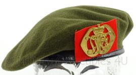 KL Landmacht baret met JWF Johan Willem Friso insigne 1989 - maat 54 - maker Hassing BV - origineel