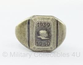 WO2 Duitse 1939 - 1940 met Stahlhelm ring replica