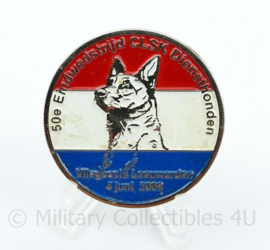 Zeldzame originele coin 50e eindwedstrijd CLSK Diensthonden Defensie -  vliegbasis Leeuwarden 4 juni 2003 - diameter 4 cm - origineel