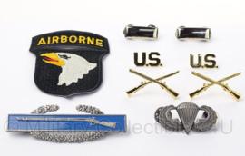 US officer insigne set 1st Lieutenant 101st Airborne Division