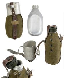 WO2 Duits model veldfles set - (naoorlogs) - origineel