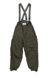 USAF US Air Force Trousers Aircrew, Heavy Zone Type F-1B ECWS - ongedragen  - valt als size 30 inch - kleur groen - origineel