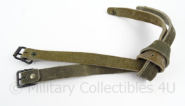 Zweedse leger lederen bepakkingsriempjes set - 2 stuks - lengte 40 cm - origineel