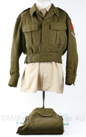 Replica Canadian Battledress WO2 RCEME Lance Corporal Canada  jas met broek - maat Medium - Lance Corporal - Replica