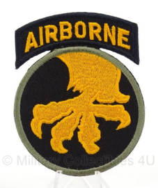 WO2 US 13th Airborne Division patch cut edge - afmeting 6,5 x 9 cm - replica