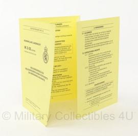 KL Nederlandse leger MUNITIE instructiekaart veiligheidsregels boekje - IK2-25 - origineel