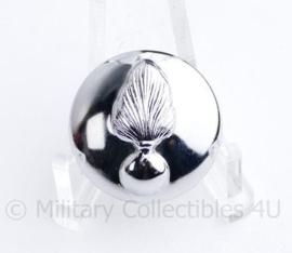 Kmar Marechaussee knoop 23 MM zilver - origineel
