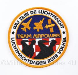 KLU Koninklijke Luchtmacht embleem met klittenband Luchtmachtdagen 2019 Volkel - Team Airpower; Wij zijn de Luchtmacht - origineel