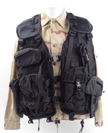 KMAR Koninklijke Marechaussee Molle OPS vest  -  Met tassen  -  XL  -  Zwart  -  origineel