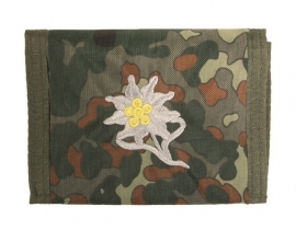 Beurs / portemonnee flecktarn met Edelweiss