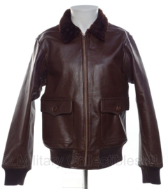 Type M-422A (G-1 pilot jacket) Leather Flight Jacket, US Navy USN - Brown leather - Large of XL