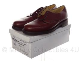 KL DT nette schoenen merk GERBA - bruin leer - maat 280B, 285B, 290S, 290B, 300S, 305M, 310M of 315S  - ook als WO2 model geschikt - origineel