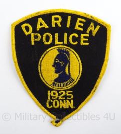 US Police Darien Police embleem - afmeting 10 x 13 cm - origineel