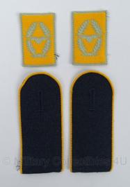 Duitse BW Bundeswehr Luftwaffe schouder epauleten & kraagspiegel set -  lijkt op model WO2 - origineel