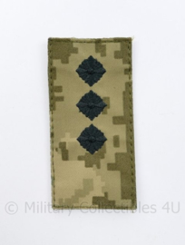Oekraïense leger rang embleem camo - met klittenband - rang Senior Lieutenant -10 x 5 cm - origineel