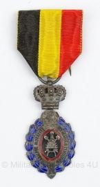 Belgische ereteken van de arbeid zilver medaille - Origineel