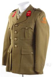 """KL Koninklijke Landmacht Officiers DT jas - rang """"Tweede Luitenant"""" - 1950 - maat 46 - origineel"""
