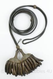 Nederlandse Zilveren Fourragère met 2 kwasten voor de rang van Ritmeester - begin 1900 - origineel