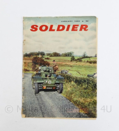 The British Army Magazine Soldier January 1959 - 30 x 22 cm - origineel