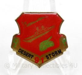 US Army 1e Golfoorlog Desert Storm 1991 Herinneringsspeld - 26 mm - origineel