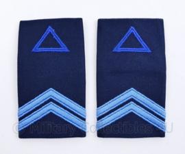 Klu Luchtmacht epauletten - Korporaal in opleiding  - 10,5  x 5 cm - origineel