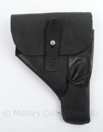 WO2 Duits PPK model zwart lederen holster - net naoorlogs - afmeting 23 x 15 x 3 cm - replica
