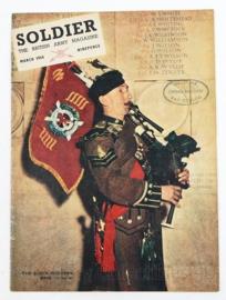 The British Army Magazine Soldier March 1954 -  Afkomstig uit de Nederlandse MVO bibliotheek - 30 x 22 cm - origineel