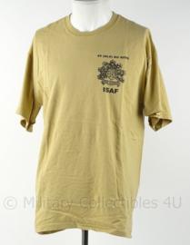 KL Landmacht T shirt ISAF 45 NLD Bg RIOG - Oranje Gelderland - Uruzgan 2008 Staf Compagnie - maat XL - origineel