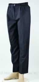 KMAR Marechaussee dames wollen broek zonder beenzakken donkerblauw - maat 40 - origineel