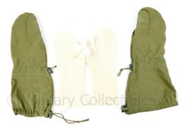 KM Marine Korps Mariniers winter overhandschoenen met binnenhandschoenen (maat 8) - groen - topstaat - Noorse Leger origineel