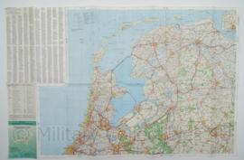 KL Nederlandse leger Topografische wegenkaart Nederland 1:250 000 - 111 x 72 cm - origineel