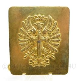 Spaanse leger gouden koppelslot - 5,6 x 6 cm - origineel