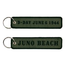 Sleutelhanger D-Day June 6, 1944 JUNO beach - 12,5 x 3 cm
