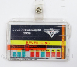 KLu Luchtmacht ID Beveiliging Luchtmacht dagen 2009 - afmeting 9 x 6 cm - origineel