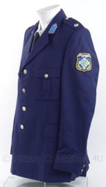 Griekse Politie Kreta uniform jas met insignes - maat 48 - Zeldzaam - origineel
