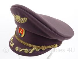 Tsjechische leger platte pet met gouden insigne - maat 55, 56 of 57 cm. - origineel
