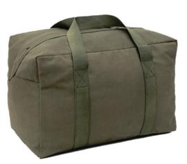 Parabag Flyers kit bag  - met rits- en drukknoop sluiting - 77 liter - 60 x 35 x 30 cm. - ook ideaal voor een parachute -  GROEN