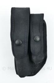 Britse Politie koppeltas zwart met double pouches - PSNI Z- 1168 H/6 - 18,5 x 9,5 x 2cm - nieuw - origineel