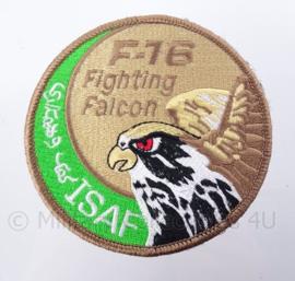"""KLu Koninklijke Luchtmacht F-16 """"Fighting Falcon"""" ISAF -  met klittenband - diameter 10 cm"""