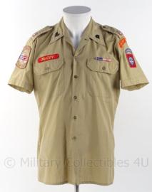 """US Army 82nd airborne division """"desert storm"""" overhemd met insignes - maat S - niet officieel samengesteld - origineel"""