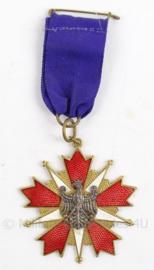 Poolse medaille - onbekende betekenis - 5 x 12 cm - origineel