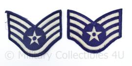 USAF US Air Force rang embleem paar  - Staff Sergeant - 10 x 5 cm - origineel