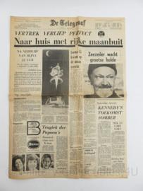 Collectible krant Telegraaf 22 juli 1969 naar huis met rijke maanbuit - maanlanding -  origineel