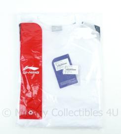 KL Defensie Li-Ling Sport Shirt SS Men met korte mouw wit - maat Medium - NIEUW in verpakking - origineel