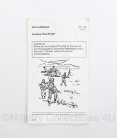 Defensie en Korps Mariniers instructiekaart Landing Point Finder IK 4-42 druk 4 -15 x 9 cm - origineel