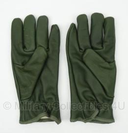 Groene leren leger handschoenen ongebruikt - GEVOERD - maat 8,5 - origineel