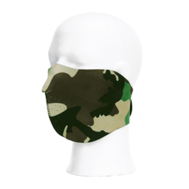 Mask half face - woodland camo