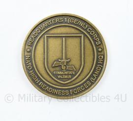 Duits Nederlandse Corps Exercise locomotive Sword 2008 coin - diameter 3,5 cm - origineel