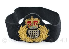 Scottish Prison Guard platte pet band met embleem van luxe metaaldraad -  24 x 8 cm - origineel