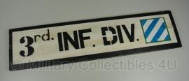 3rd Infantry Division bord - echt hout - 70 x 18 cm.